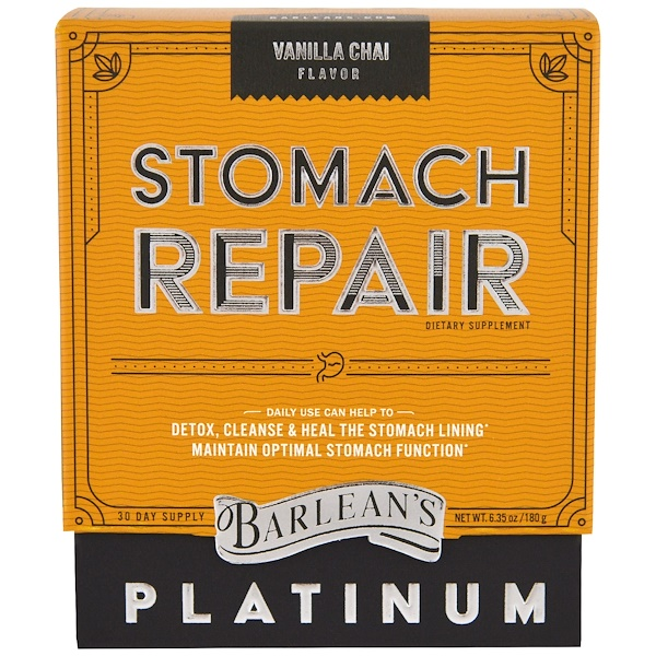 Barlean's, Stomach Repair, Vanilla Chai , 6.35 oz (180 g)