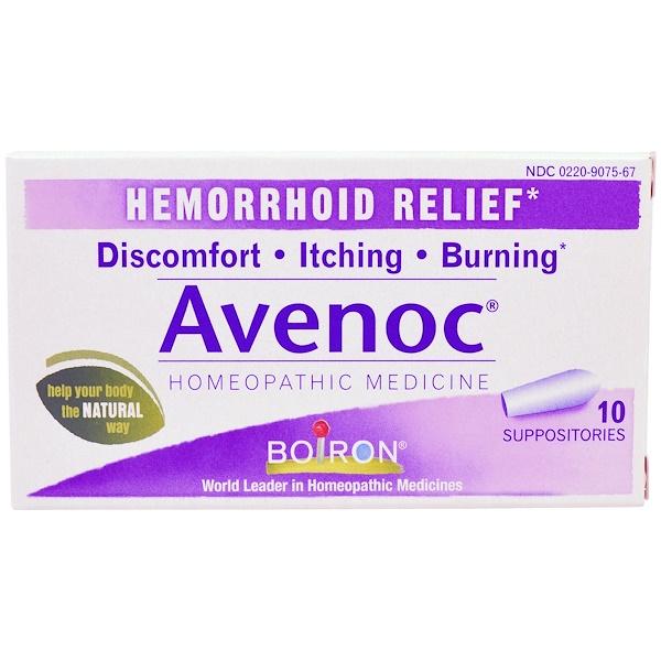 Boiron, Avenoc, Hemorrhoid Relief, 10 Suppositories